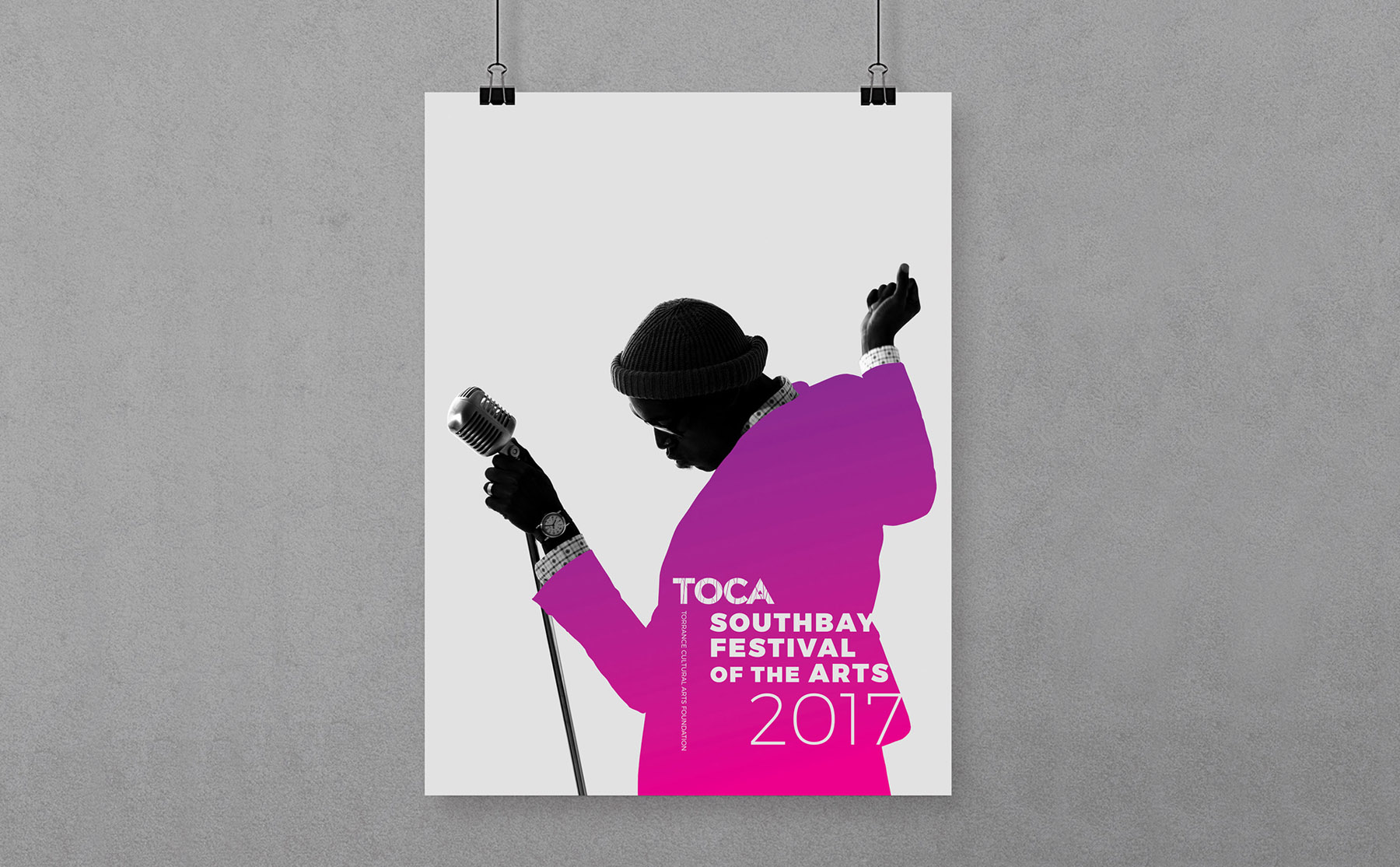 toca commemorative poster southbay festival of the arts designed by Ashcraft Design