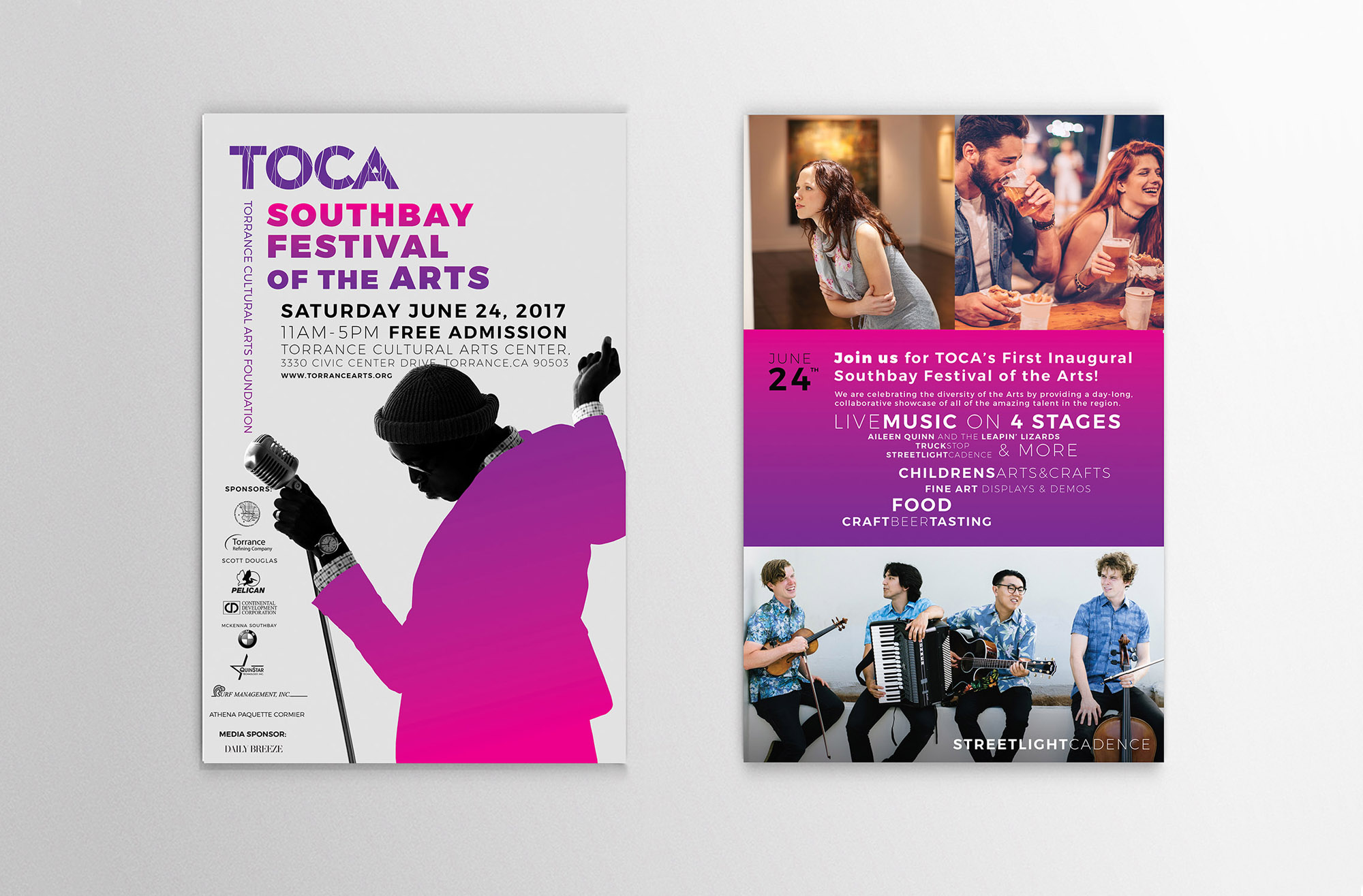 TOCA Southbay Festival of the Arts Postcard Mailers